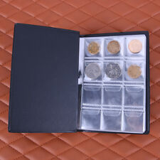10 Pages 120 Coin Collection Holder Pocket Money Penny Tokens Storage Album Book