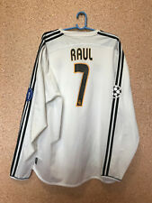 REAL MADRID SPAIN 2004 FOOTBALL SHIRT CAMISETA TRIKOT Champions League #7 RAUL