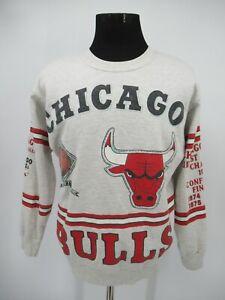P6504 VTG 90's Chicago Bulls Men's Basketball-NBA Pullover Sweatshirt