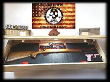 """47"""" Stain Yourself Hidden Gun Storage Shelf Secret Concealment Cabinet Safe"""