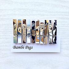 Disney Bambi Wooden Clip Magnets Peg Design Set of 10 ~ Fridge Magnet