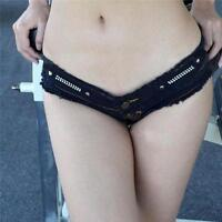 Sexy Women Denim Mini Jeans Shorts Short Hot Pants Ultra Low Rise Waist Clubwear