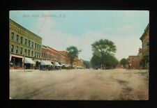 1910 Main Street Horses Wagons Stores Gouverneur Ny St. Lawrence Co Postcard
