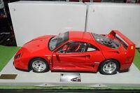 FERRARI F40 rouge red sur socle montée 1/8 POCHER voiture miniature d collection