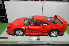 FERRARI F40 rouge red sur socle montée 1/8 POCHER voiture miniature d collection