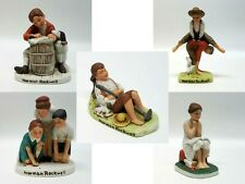 Set of 5, Norman Rockwell, Saturday Evening Post, Cover Collection Figurines