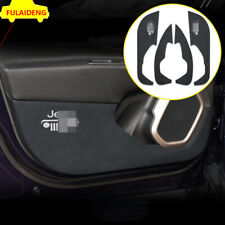 4x For Jeep Renegade 2015-2018 Black Leather Door Shield Covers Kick Protectors