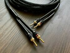 SPEAKER CABLE 14 GAUGE 8 FT. PAIR. HIGH QUALITY BLACK BEAUTY CABLE