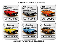 79'  81' CHRYSLER  LC  LANCER  COUPE  1600cc     SET OF 6 RUBBER  COASTERS