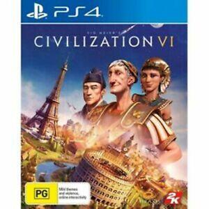 Civilization 6 VI PS4 LIKE NEW FREE POST + TRACKING INC MANUAL!