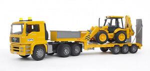 Bruder MAN Yellow Semi Flatbed Truck Bruder NEW TOY JCB 4CX Backhoe Loader