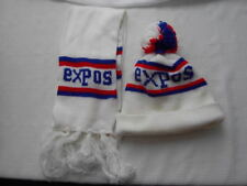 MONTREAL EXPOS TOQUE WINTER HAT + SCARF BASEBALL MLB