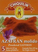 Pure Powdered Saffron Sachets 5 count New Free Shipping