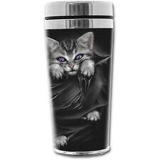 Spiral Direct BRIGHT EYES THERMO TRAVEL MUG FLASK 15 oz Gift/Cat/Cute/Xmas