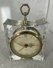 Vintage Elgin Crystal Alarm Clock, Made in Germany