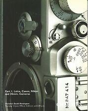 CHRISTIE'S CAMERAS LEICA NIKON CANON Part 1 Auction Catalog 1996