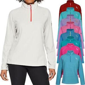 Regatta Montes Womens Ladies Contrast Half Zip Lightweight Micro Fleece Top New