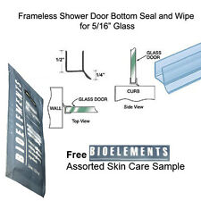 "Shower Door Dual Durometer PVC Seal & Wipe 5/16"" Glass - 32"" long w/ Bioelements"
