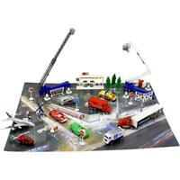 DimpleChild 50 Piece Die Cast Metal Vehicles City Life Toy Set w Cars,Cranes