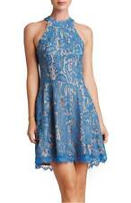 DRESS THE POPULATION ANGIE HALTER COBALT BLUE DRESS sz S