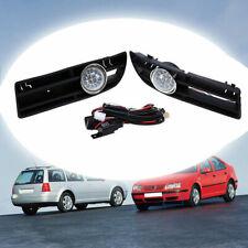 Fit for 1999-2007 VW Bora Jetta MK4 Pair LED Driving Fog Light Lamp Grille Cover