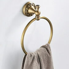 Bathroom Towel holder Wall Mounted Round Antique Brass Towel Ring Towel Holder