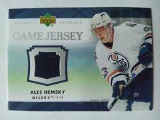 2007-08 Upper Deck Game Jersey Ales Hemsky Edmonton Oilers - Jersey BLUE
