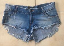 Ladies Frayed Cut Off Ripped Denim Shorts, Size 10, Rusty, Hot Pants Shorts