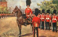Artist C1910 Welsh Guards Kings Birthday Tuck Oilette Postcard UK 6430