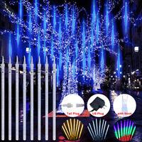 30/50M LED Meteor Shower Rain Falling Lights Christmas Outdoor Wedding Decor US