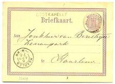 NEDERLAND 1876  BRIEFKAART  - LANGST = OOSTKAPELLE  = PR EX