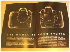 NIKON D3x DSLR Camera Brochure 28 pages (Japan version) Rare mint condition