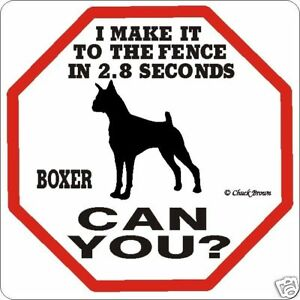 Boxer Dog 2.8 Fence Dog Sign