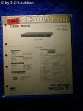 Sony Service Manual SFR 3000 / YR-3000 S-RGB Transcoder (#1345)