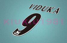 Leeds Viduka #10 PREMIER LEAGUE 97-06 Black Name/Number Set
