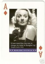 Marlene Dietrich -  Movie Quote Playing Card