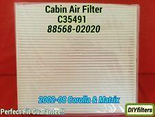 C35491 COROLLA MATRIX 2003-2008 PREMIUM AC CABIN AIR FILTER 88568-02020