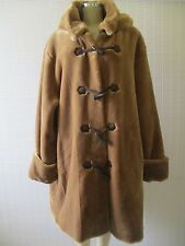DENNIS BASSO BROWN FAUX FUR LONG SLEEVE HOODED COAT SIZE 3 X - NWT