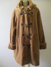 $240 DENNIS BASSO BROWN FAUX FUR LONG SLEEVE HOODED COAT SIZE 3 X - NWT