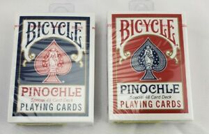Bicycle Pinochle Cards 2 Pack - Colors will Vary