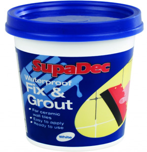 SupaDec Waterproof Fix and Grout for Ceramic Wall Tiles - 500g