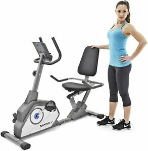 Marcy Magnetic Recumbent Exercise Bike with 8 Resistance Levels ADJUSTABLE SEAT