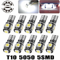10X CANBUS White T10 5050 LED Dome Map License Interior Light Bulbs 161 175 2825