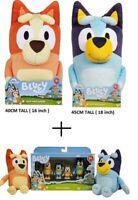 * GENUINE *  Large Bluey & Bingo Plush Toys + 4 pack figurines + Small Plushes