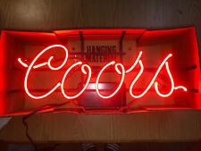 Vintage Coors Neon Sign. W/Box/Hardware/Instructio ns Super Rare! Awesome Shape!