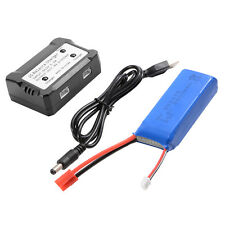 2000mAh 7.4V 25C LiPo Battery + 2S Balance Charger for Syma X8HG Drone BC586