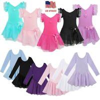 US Girls Ballet Dance Dress Gymnastics Leotard Ballerina Dancewear Costume