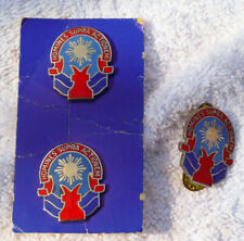 New listing Lot of 3 Hat Cap Lapel Pin 387th Replacement Battalion Usar, Pinback
