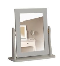 Steens Baroque Soft Grey Vanity Mirror Modern Bedroom Furniture Hinged Frame