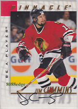 1997-98 BE A PLAYER AUTO: JIM CUMMINS #80 ON CARD AUTOGRAPH CHICAGO BLACKHAWKS
